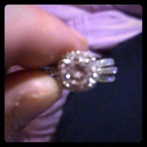 Sapphire white ring